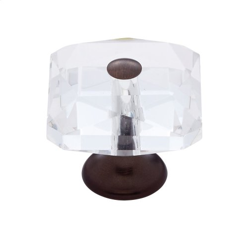 Old World Bronze 35 mm Square Crystal Knob