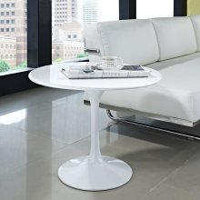 "Lippa 24"" Fiberglass Side Table in White"