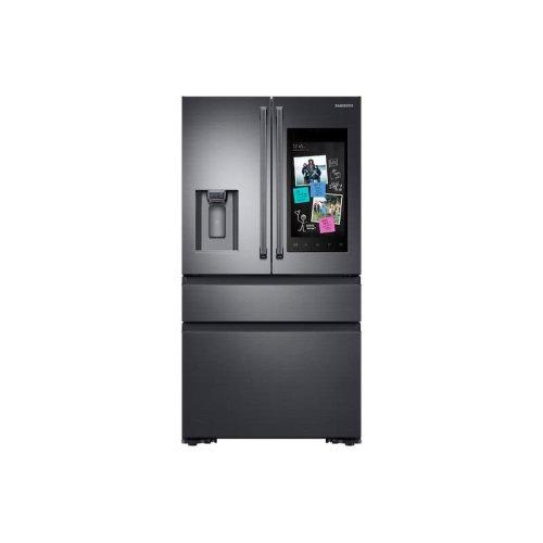 22 cu. ft. Family Hub Counter Depth 4-Door French Door Refrigerator in Black Stainless Steel