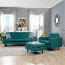 Empress Armchair and Sofa Set of 2 in Teal