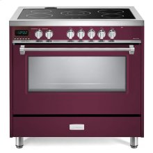 "Burgundy 36"" Designer Electric Glass Top Range - Designer Series"