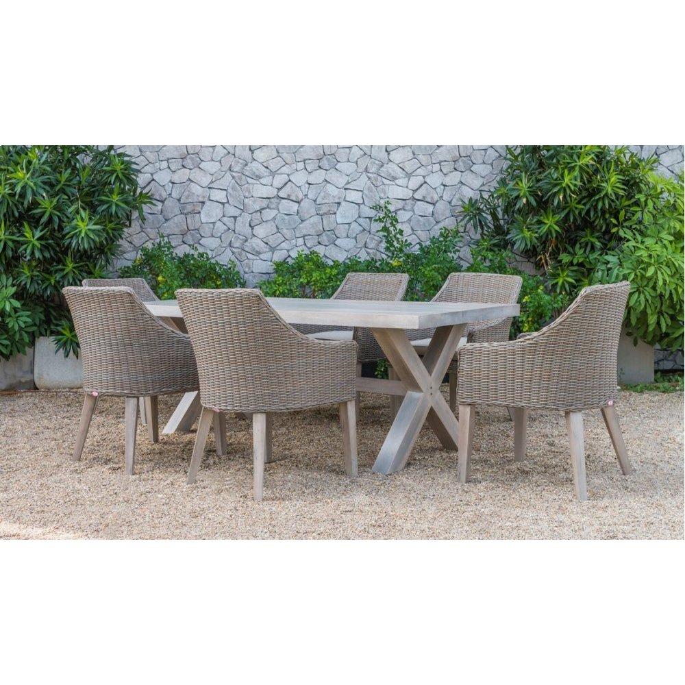 Renava Gazos - Outdoor Beige Dining Set