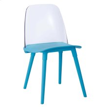 Pasha Blue Acrylic Chair (Set of 2)