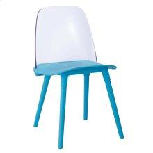 Pasha Blue Acrylic Chair (Set of 2)