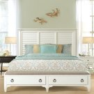 Myra - Queen Upholstered Bench Storage Footboard - Paperwhite Finish Product Image