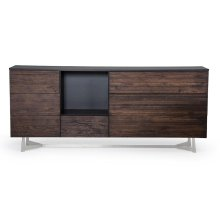 Modrest Wharton Modern Dark Aged Oak Buffet
