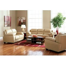 LOVESEAT,BROWN/FINISH 62''Lx35''Wx36''H