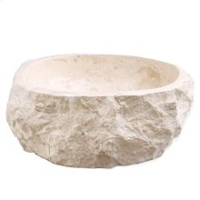 Elbrus Above Counter Marble Basin - Cream