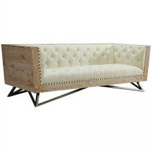 Regis Cream Sofa With Pine Frame And Gunmetal Legs