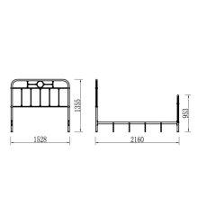 Complete Queen Metal Bed - Grey