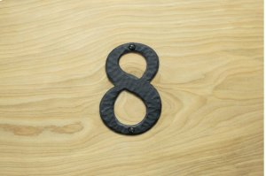 "8 Black 4"" Mailbox House Number 450150 Product Image"
