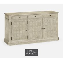 "64"" Rustic Grey Three Door Sideboard"
