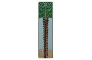 Royal Palm (Vertcal) - Antique Pewter/Pale Blue Product Image