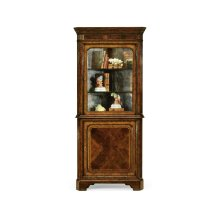 Mahogany Glazed Corner Cabinet