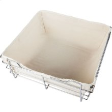 Canvas Basket Liner for POB1-162317 Basket. Features Hook and Loop Fasteners for a Secure Fit. Machine Washable. Tan Canvas