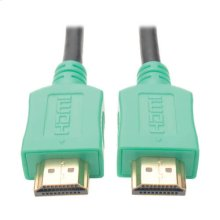 High-Speed HDMI Cable with Digital Video and Audio, Ultra HD 4K x 2K (M/M), Green, 3 ft.