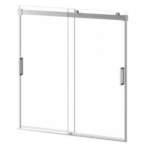 "60"" X 60"" Sliding Shower Doors for Bathtub - Chrome Product Image"