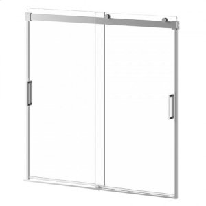"60"" X 60"" Sliding Shower Doors for Bathtub - Chrome Product Image"