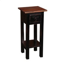 CC-TAB1792TLD-ABRW  Cottage Narrow Side Table  Antique Black  Raftwood