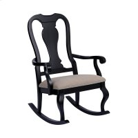 Tress Black With Natural Linen Rocking Chair Product Image