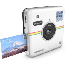 Polaroid Socialmatic 14MP Wi-Fi Digital Instant Print & Share Camera POLSMT01W, White