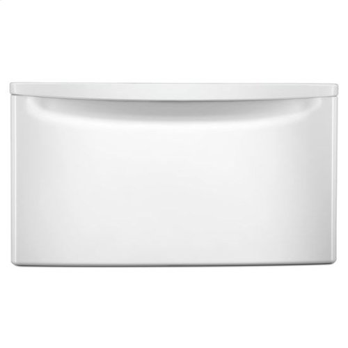 """15.5"""" Laundry Pedestal with Storage Drawer - white"""