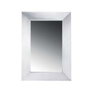 Noah's Collection stainless steel framed rectangular mirror. Product Image