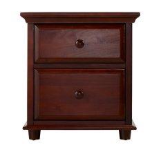 2 Drawer Dresser w/ Crown & Base : : Chestnut :