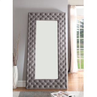 Upholstered Lacey Floor Mirror