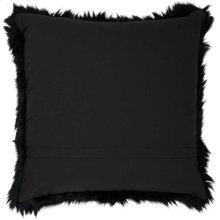 "Fur Fl101 Black 1'10"" X 1'10"" Throw Pillow"