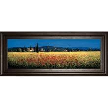 Tuscan Panorama-poppies By David Short