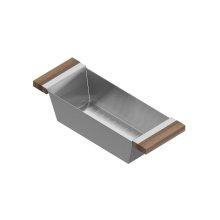 Colander 205223 - Stainless steel sink accessory , Walnut