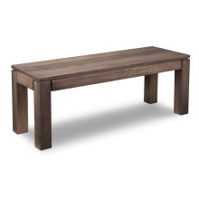"""Contempo 48"""" Leg Bench with Wood Seat"""