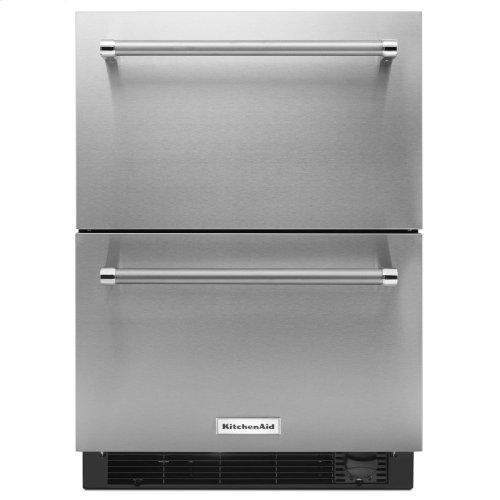 "24"" Stainless Steel Refrigerator/Freezer Drawer"