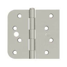 "Special Hinge for Fiber Glass Doors, 4"" x 4 1/4"" x 5/8"" Radius x SQ, Security Stud - Brushed Nickel"