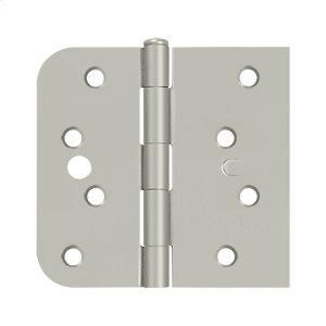 """Special Hinge for Fiber Glass Doors, 4"""" x 4 1/4"""" x 5/8"""" Radius x SQ, Security Stud - Brushed Nickel Product Image"""
