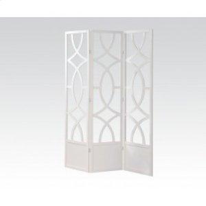 White 3-panel Wooden Screen