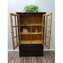 Stone Brown 2drw Bookcase