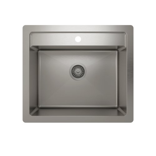 "ProInox H75 Single Bowl dualmount Utility Sink ProInox H75 18-gauge Stainless Steel, 22"" x 16"" x 12"" *OPEN BOX*"