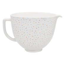 5 Quart Confetti Sprinkle Ceramic Bowl