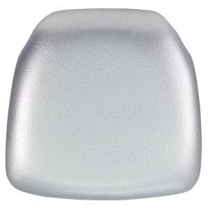 Hard Silver Vinyl Chiavari Chair Cushion Product Image