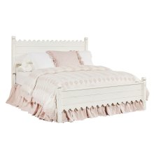 Jo's White Scallop King Bed