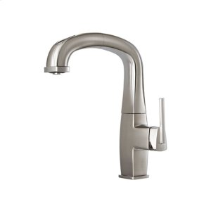 Pull out kitchen faucet with 2-mode spray head - Stainless steel PVD Product Image