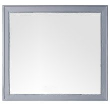 "Bristol 44"" Rectangular Mirror, Silver Gray"
