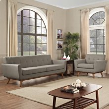Engage Armchair and Sofa Set of 2 in Granite