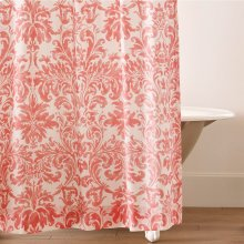 Kate Shower Curtain, CORAL, ONE