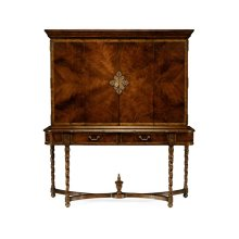 Mahogany Panelled Door TV Cabinet