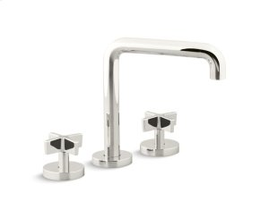 Deck-Mount Bath Faucet, Tall-Spout, Cross Handles - Nickel Silver Product Image
