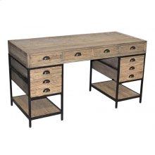 Reclaimed Oak 5-Drawer Desk