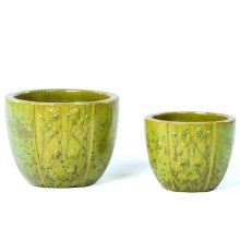 Poppy Fields Planter - Set of 2